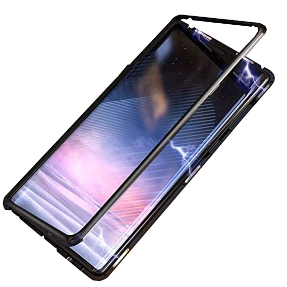 wholesale dealer 0c81b a9092 Phone Case Ultra Slim Magnetic Adsorption Case for Samsung Galaxy Note 8  ,Clear Tempered Glass Hard Back Cover for Samsung Galaxy Note 8 [Support ...