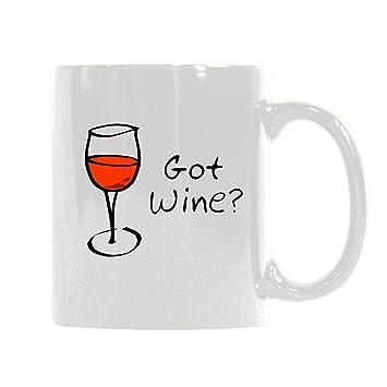 Amazoncom Got Wine Ceramic Coffee Mugs Funny Quotes White Mug