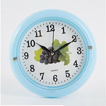 Aoligei Reloj Pared Digital Reloj Reloj de Pared Circular 6-Pulgadas El Reloj de Pared Perfecto para una Oficina, salón de Clases, Dormitorio o baño: ...