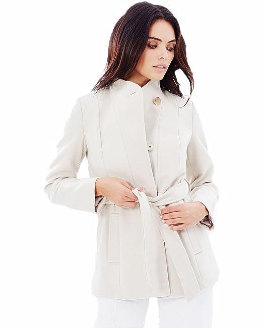 Oasis - Abrigo - Gabardina - para mujer blanco crema 38: Amazon.es: Ropa y accesorios