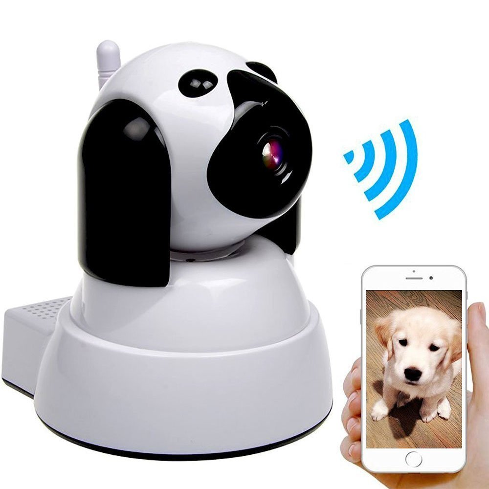 Dog IP Cam Wireless Security Camera HD 720P WiFi Baby Cam Pet Monitor Pan Tilt with Motion Detection Two Way Audio Night Vision Nanny Cam Baby Monitor Secure4 baby Worry Free never lose sight EZ setup