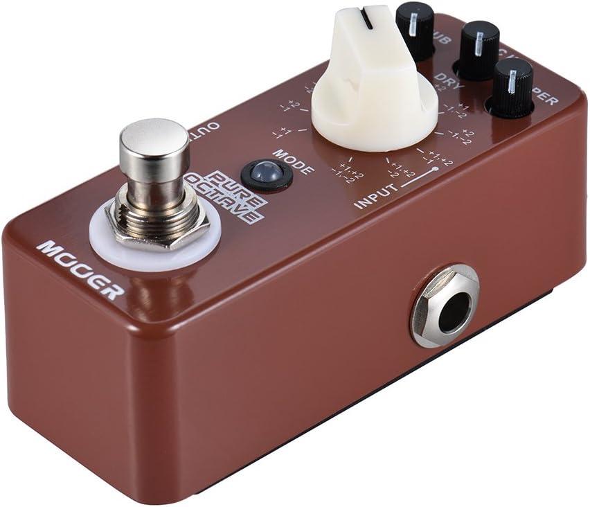 Muslady MOOER PURE OCTAVE Efecto Pedal de Guitarra Mini Octave 11 ...