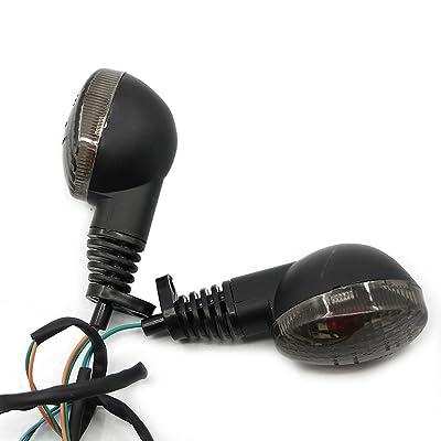 Motoparty Front&Rear Turn Signal Indicator Light Blinker Lamp For KAWASAKI EX250R NINJA 250R KLX250S KLX250SF VN650 Vulcan S,Smoke Shell: Automotive [5Bkhe2014672]