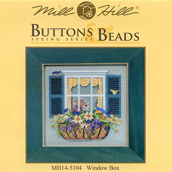 Window Box Cross Stitch Kit Mill Hill 2015 Buttons /& Beads Spring MH145104