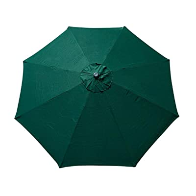 9FT 8 Ribs Umbrella Cover Canopy Green Replacement Top Patio Market Outdoor Beach Stall UV Sun Protect Water Resistant : Garden & Outdoor