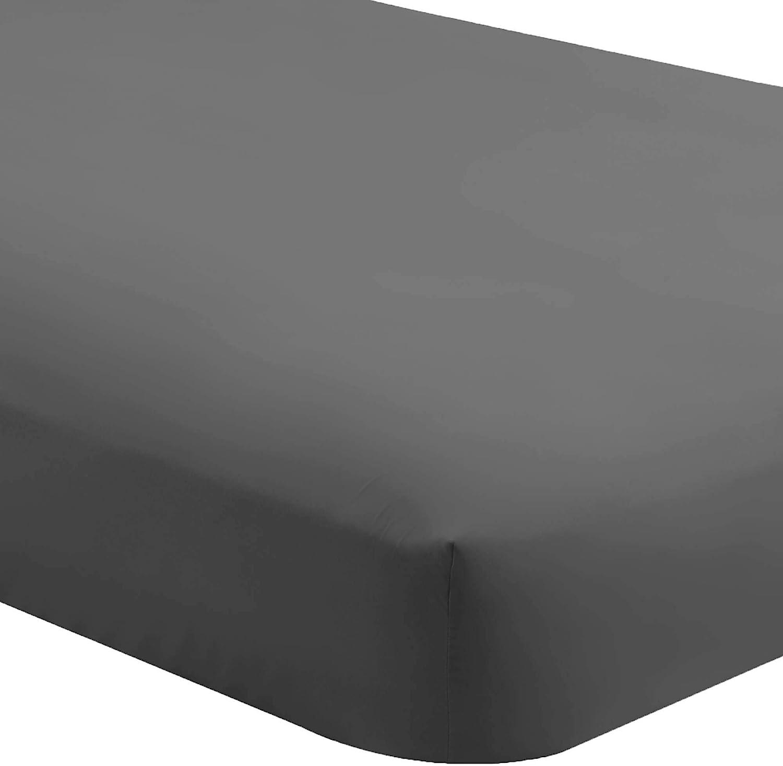 Bare Home Fitted Bottom Sheet King - Premium 1800 Ultra-Soft Wrinkle Resistant Microfiber - Hypoallergenic - Deep Pocket (King, Grey)
