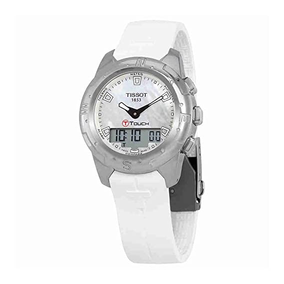 Tissot Reloj Analógico-Digital para Mujer de Cuarzo con Correa en Caucho T047.220.47.111.00: Amazon.es: Relojes