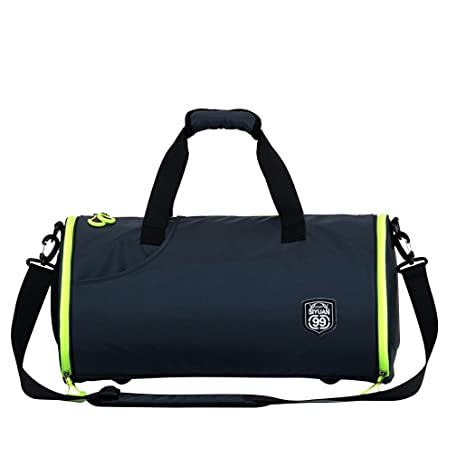 d6724c3d61dd8c SIYUAN Athletic Gym Bag, Sports Duffel Bag Round Lightweight Bag with Shoe  Compartment Waterproof,
