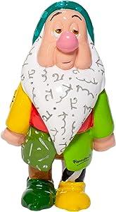Enesco Disney by Romero Britto Snow White and The Seven Dwarfs Sleepy Miniature Figurine, 4.7 Inch, Multicolor