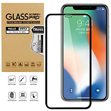 HD Screen Protector for iPhone Xs Max Screen Protector Compatible with iPhone Xs Max The Grafu Anti Fingerprint Tempered Glass Screen Protector 2 Pack