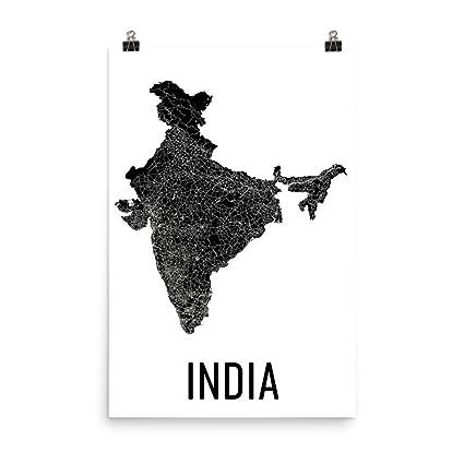 Amazon.com: India Map, Map of India, India Art, India Decor, Indian ...