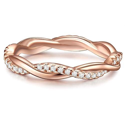 cfb9ebe96ad9 Tresor 1934 Anillo de mujer anillo de compromiso Plata de ley en ...