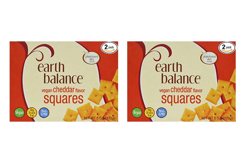 Earth Balance Vegan Cheddar Flavor Squares - 6 oz - 2 Count (2 Pack)