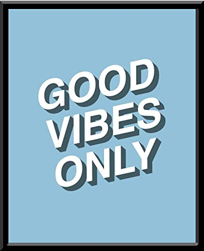 Good Vibes Only Azul Buenas Vibras Quote Frase Blanco Y