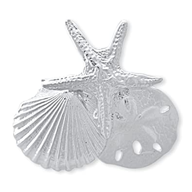Amazon solid sterling silver sea shell slide pendant for omega solid sterling silver sea shell slide pendant for omega or chain aloadofball Images