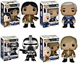 Battlestar Galactica Classic Cylon Centurion, Capt. Apollo, Commander Adama and Lt. Starbuck Pop! Vinyl Figures Set of 4