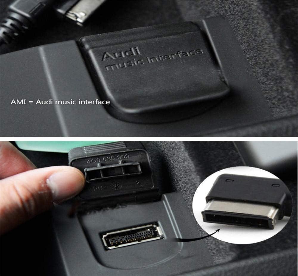 AMI MDI MMI AUX Cable Compatible for i-Phone 7 7 Plus 8 8 Plus X for Audi A4 A5 A6 A8 Q5 Q7 R8 TT Volkswagen VW Passat CC Tiguan Touareg 1M