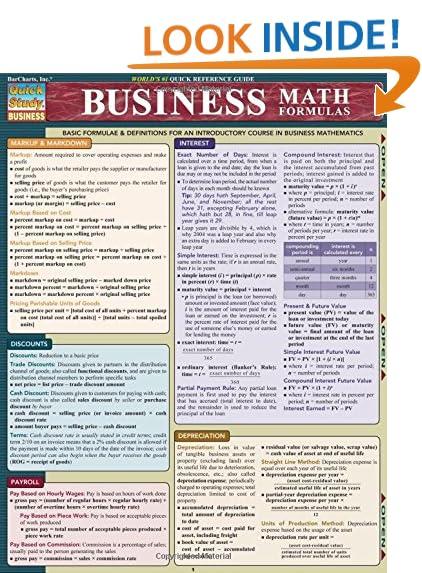 business math book mary hansen