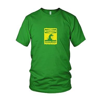 Warning Graboids - Herren T-Shirt, Größe: M, Farbe: grün