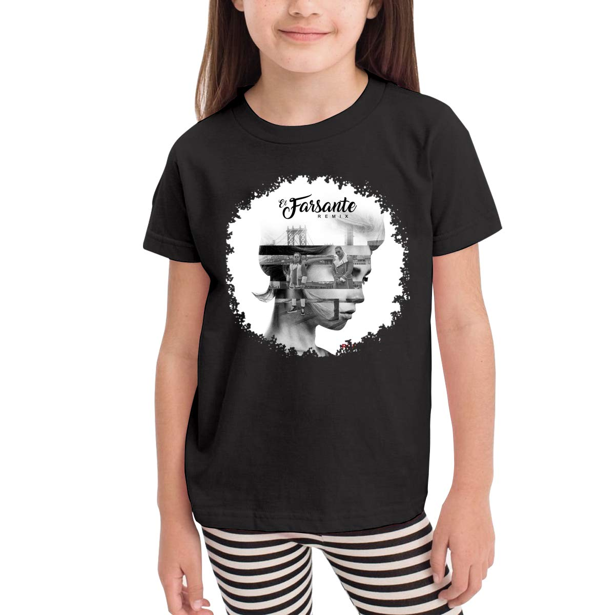 WYeter Ozuna El Farsante Boys Girls Kids Soft Short Sleeve Tshirt Black
