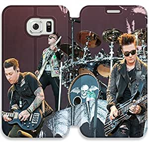 samsung galaxy S6 Edge Flip Leather Phone Case Avenged Sevenfold TY1OR3241277