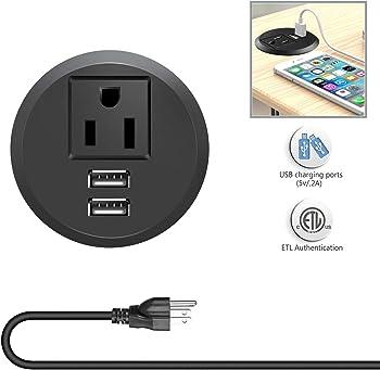 Vilong Desktop Power Grommet Outlets with USB Ports
