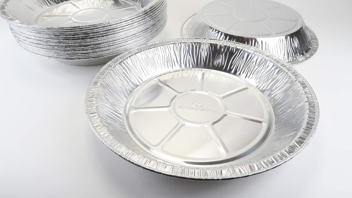 10 KitchenDance 11 Large Disposable Aluminum Pie Pan #2411