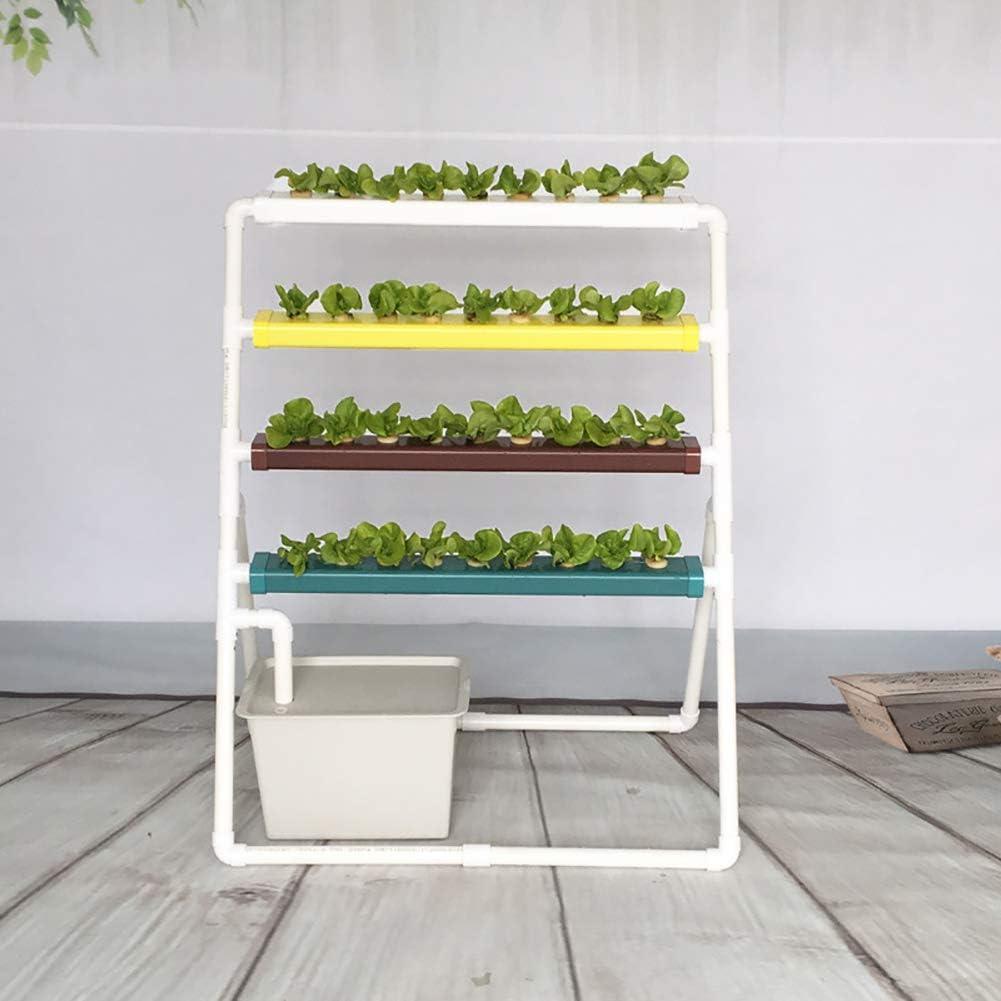 ZDYLM-Y Kit de Cultivo hidropónico, 36 sitios de Plantas Sistema de Plantas de jardín de Cultivo de Agua de PVC, Estante hidropónico en Escalera, para Verduras, Flores