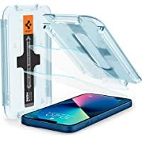 Spigen Glas.tR EZ Fit Screenprotector compatibel met iPhone 13 Mini, 2 Stuks, met Sjabloon voor Installatie…