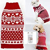 Bolbove Pet Red Snowflake Turtleneck Sweater for Small Dogs & Cats Knitwear (XX-Small) Larger Image