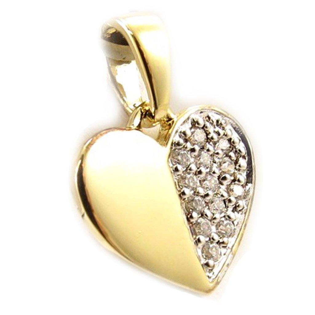 Les Tresors De Lily Pendant Love Cristal white golden.