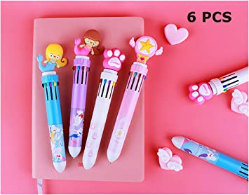 Multi-color 10in1 Color Ballpoint Pen Ball Point Pens Kids School Office Supply!