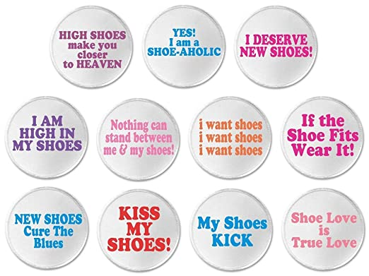 Amazoncom At Designs Set Of 11 Shoes Funny Humor Cute Quotes 3