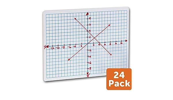 Amazon.com : 24 pk. - Reversible Student Whiteboards - XY Axis ...
