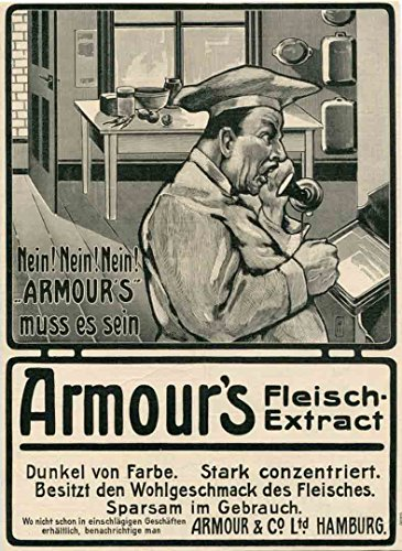 1905 Print Ad Chef Orders Armour's Fleisch Meat (Fleisch Extract)