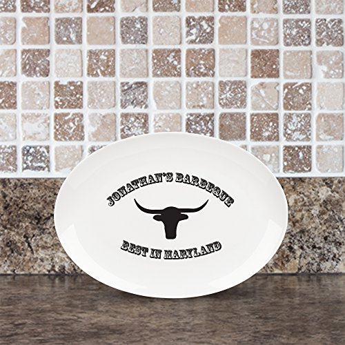 Personalized Bbq Platter (Personalized Name and Location BBQ Platter)