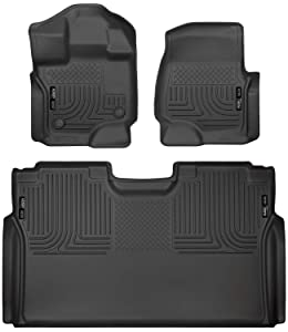 Husky Liners 94041 Weatherbeater Combo Set Black Front and 2nd Seat Floor Liners Fits 2015-19 Ford F-150 SuperCrew