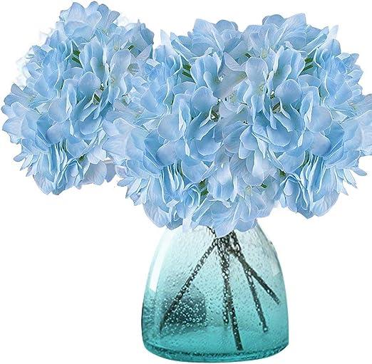 Azul Flores Artificiales 2 Ramos con 30 Cabeza Gerbera Decoraci/ón