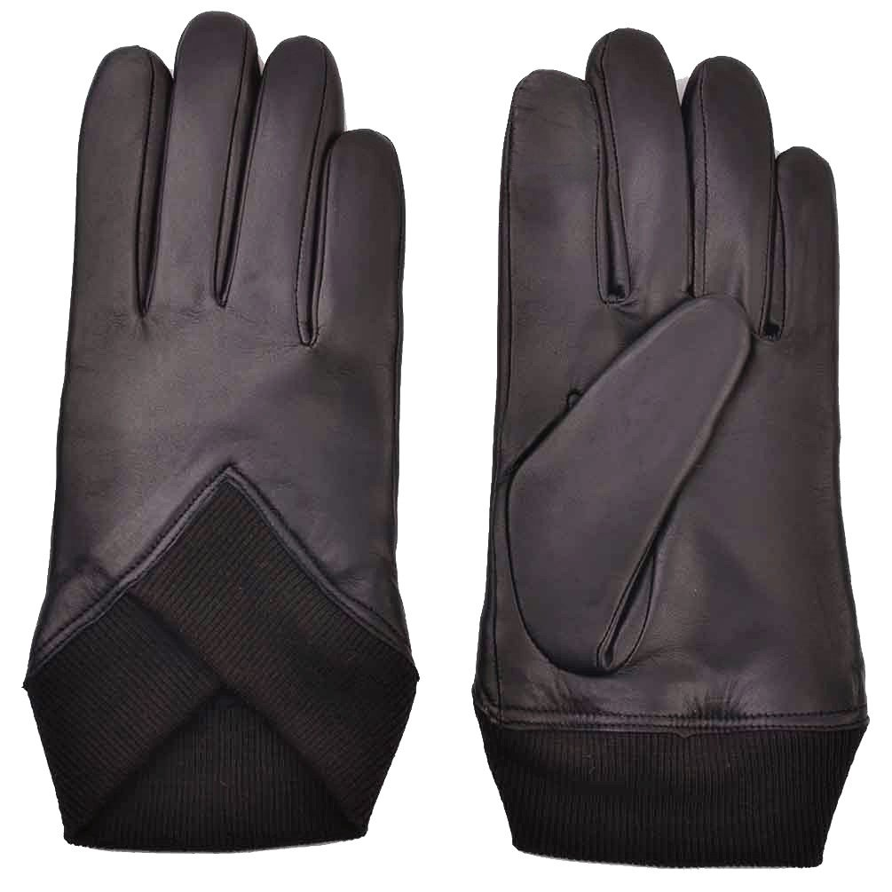 YISEVEN Men's Touchscreen Sheepskin Leather Gloves Snug Knit Waist and Fleece Lined Real Natural Luxury for Winter Hand Warm Fur Luxury Stylish Dress Xmas Gifts Motorcycle Driving, Brown 9.0''/M