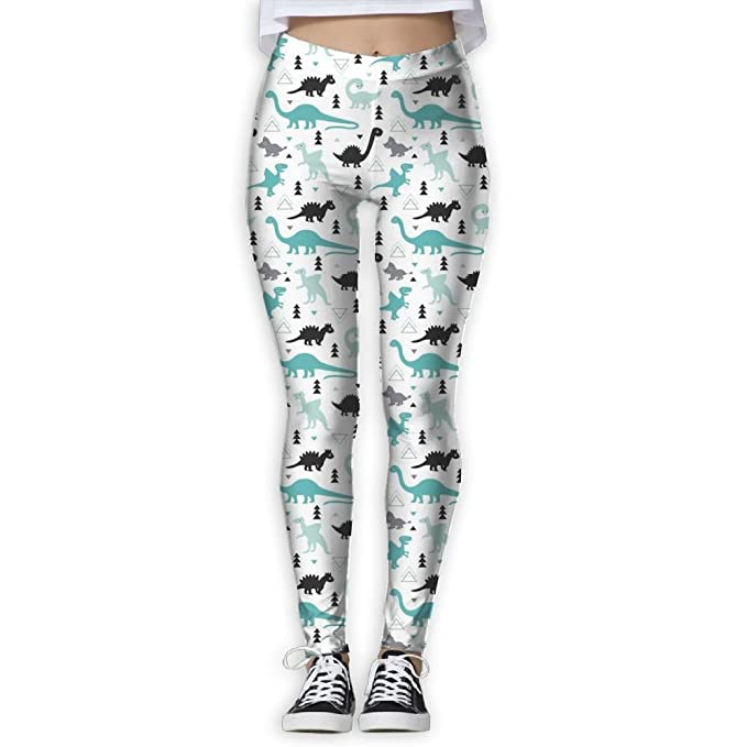 1d4d7328d2dcf Amazon.com: YERTBVZ Women's Skinny Yoga Pants Dinosaur Fashion Jogger Pants  Workout Running Leggings: Clothing