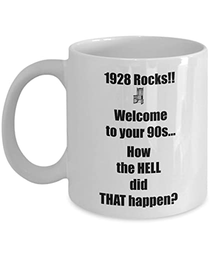Happy 90th Birthday Mug 90 Year Old Born In Coffee Tea Cup Gift Ideas For Women
