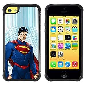 """Hypernova Defender Series TPU protection Cas Case Coque pour Apple iPhone 5C [El hombre rojo azul de los niños de la Infancia""""]"""