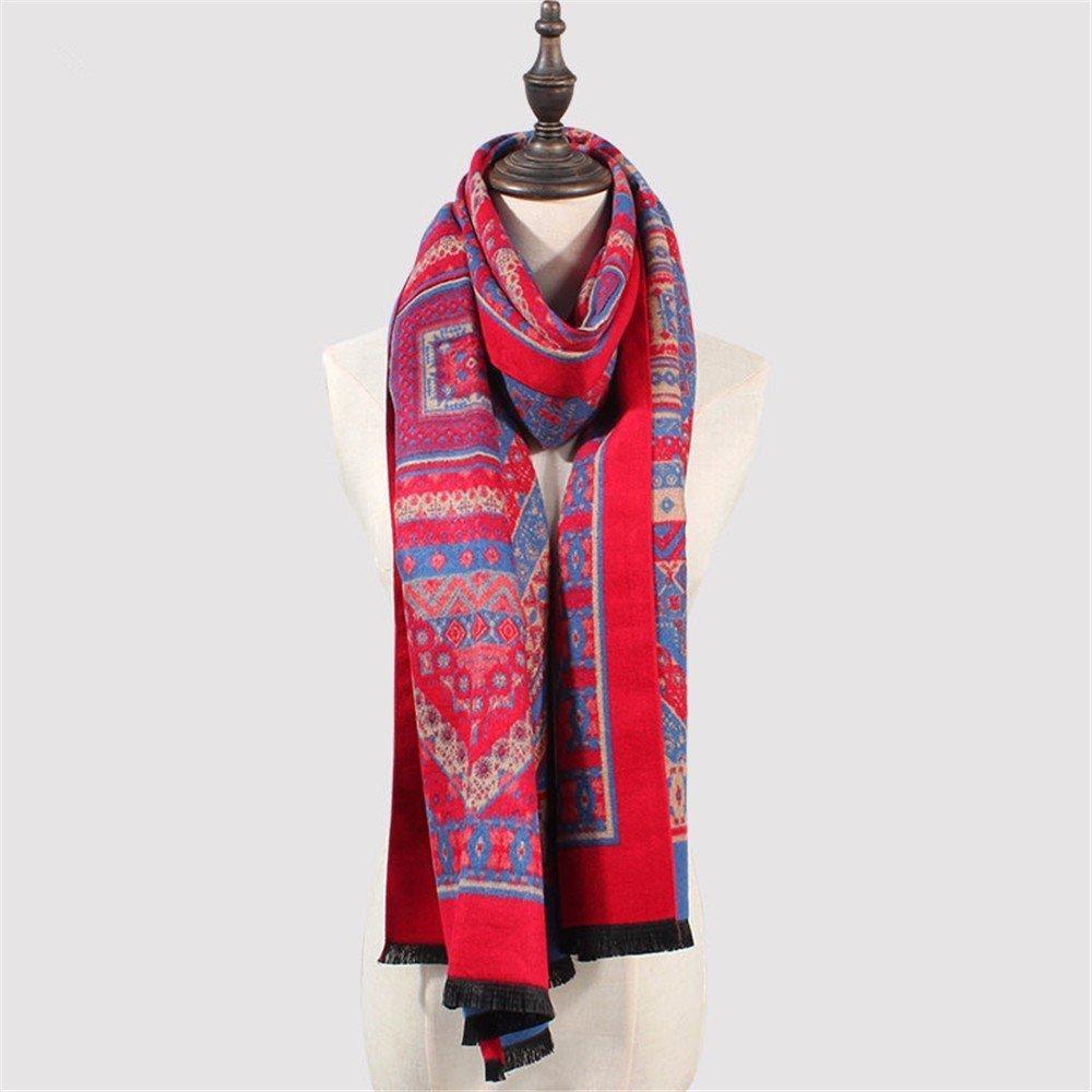 DIDIDD Bufanda engrosamiento otoño invierno mujeres cálidas bufandas de cachemira capa de viaje,C