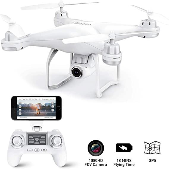 GPS Drone with Camera Live Video 1080P HD FPV RC Quadcopter Drones with Camera Follow Me Mode