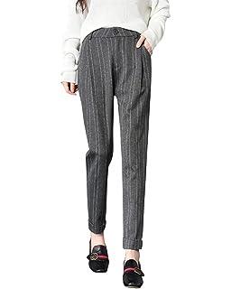 Damen Haremshose Vintage Classic Gestreift Freizeithose Elegante Party Stil  High Waist Slim Beiläufiges Fashion Bequeme Lange d253585266