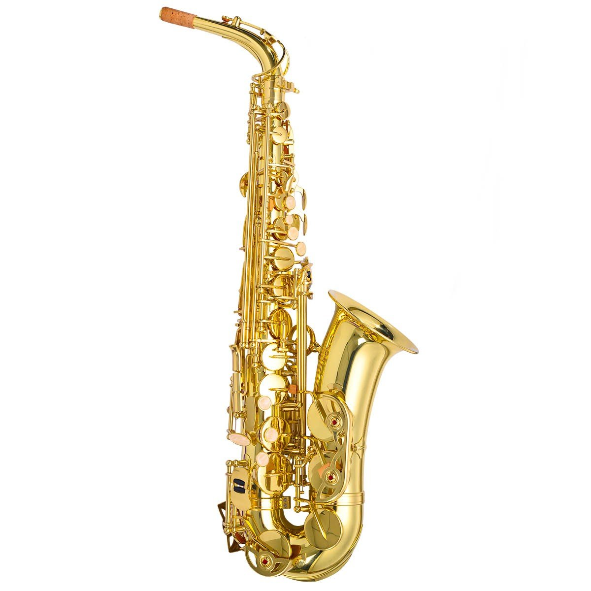 Professional Eb Alto Saxophone with Case And Accessories Saxophone Sax Alto New Gold Eb Professional Paint Lade Bb Tenor Brass Soprano Keys Black Selmer Series BESTChoiceForYou