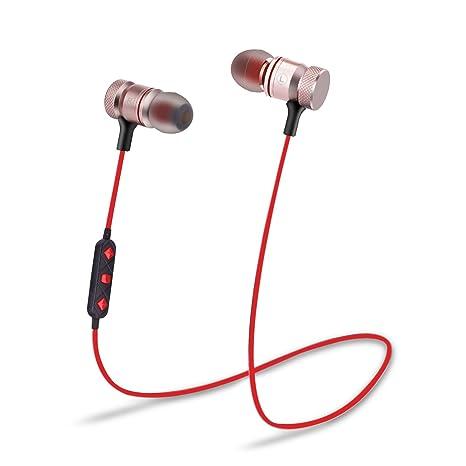 Cuffie Bluetooth senza fill auricolari stereo magnetici con microfono per  Bluetooth auricolare auricolari per iPhone X ec9b6f2df893
