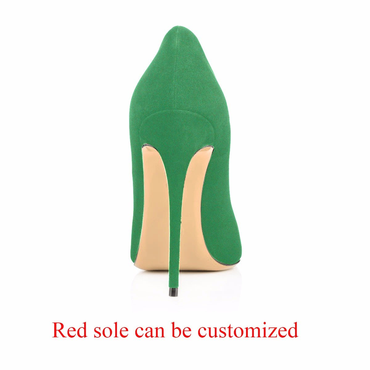 Modemoven Women's Pointy Toe High Heels Slip On Stilettos Large Size Wedding Party Evening Pumps Shoes B0773RXPM3 14 B(M) US|Green Suede