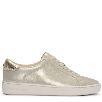 c766736a939 Michael Kors Michael by Irving Metallic Champagne Suede Trainer 37EU 4UK  Champagne