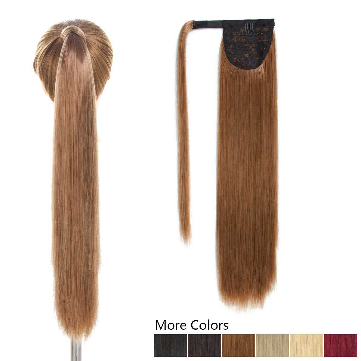 Amazon 26 Long Ponytail Hair Extension Dark Brown One Piece